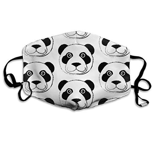 Kostüm Panda Dead - Panda Bear Face Anti Dust Mask Anti Pollution Washable Reusable Mouth Masks