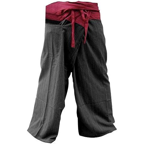 Free Size 2tono algodón rayas Thai Pescador pantalones de yoga pantalones tamaño libre * * en venta con diseño exclusivo * *