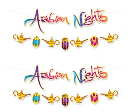 Beistle 53582 Arabian Nights Streamer Set, 2-teilig, 31,8 x 3,7 m, mehrfarbig