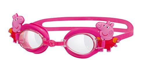 Zoggs Peppa Pig - Gafas de natación ajustables, antivaho, 6 años, color rosa