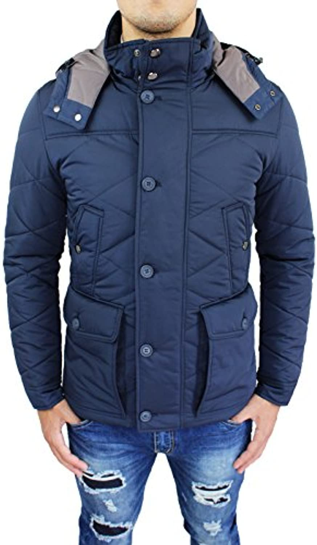 Giubbotto slim giaccone uomo Sartoriale blu invernale slim Giubbotto fit  giacca soprabito elegante 5cb2bb 6e79f81b1ba