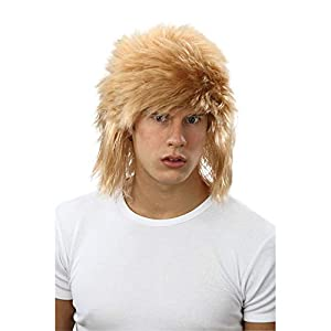 Blonde Shaggy Wig! 80s Fancy dress! Bon Jovi! (peluca)