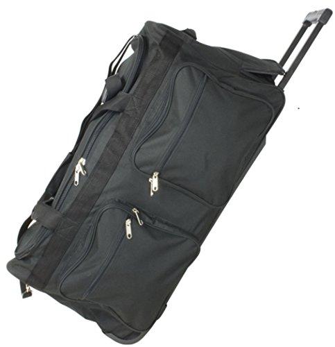 JUMBO Rollentasche - XXL-Volumen: 128 Liter, 3 Rollen, Gewicht: 3,3 kg, Trolleytasche Reisetasche Sporttasche