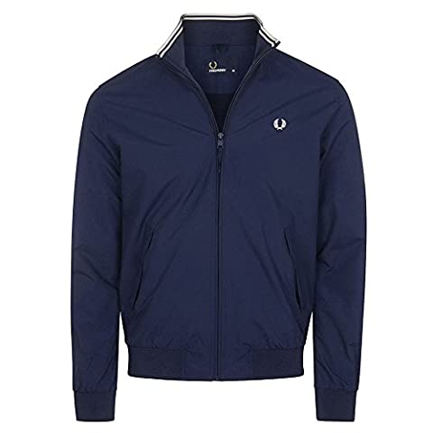Fred Perry Herren Ripstop Brentham Jacke Carbon Blau XL