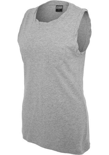 Débardeur Top Long pour Femme Tshirts sans maches Urban Classics Gris
