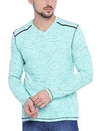 Arise Men's Full Sleeve Contrast Polo T-Shirt, Men's V-neck T-Shirt