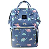 House of Quirk Baby Diaper Bag Maternity Backpack (Blue Elephant Printed)