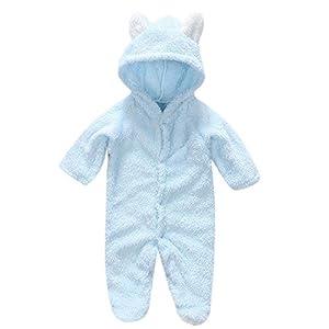 Bonito Pelele para bebé niña y Sombrero con Conejo de Manga Larga Sudaderas con Capucha Pajaritas Crawl Chándal cómodo… 15
