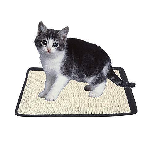 Sticker superb Sisal Katze Kratzmatte, Braun Perfekt Kratzer für Katze, Möbel Schutz Pad Spielen für Katzen Kätzchen Kitty Mahlen Klauen (Klein 20x30cm)