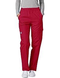 b8e1575eff9de Amazon.es  pantalon rojo mujer - Pantalones   Sanitarios  Ropa
