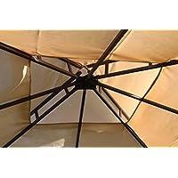 Olive Grove Spare Roof Cover for a Leaf Design 2.5M Square Garden Gazebo-Beige Colour