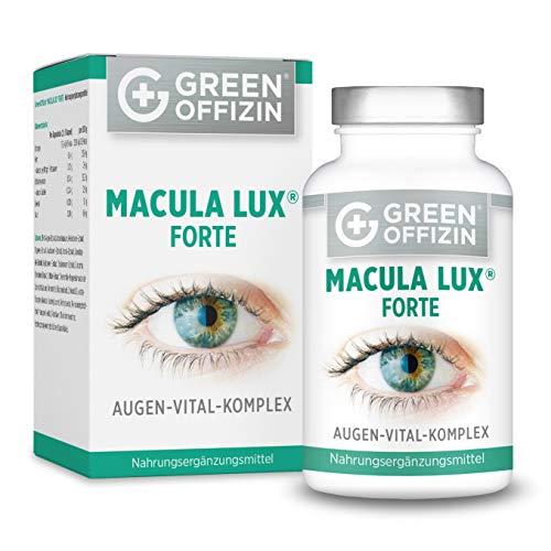 MACULA LUX FORTE Augen-Vitamine Kapseln Hochdosiert - Spezial Sehkraft Augen-Schutz Formel mit Lutein, Zeaxanthin, Lycopin, Vitamin A, C, B, Zink, Selen, DHA + Nährstoffe (120 Kapseln vegan) - Zeaxanthin Auge