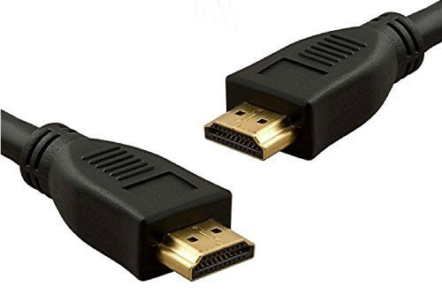 World of Data? - 10m v1.4 HDMI Cable - Black - Gold Plated - Ethernet - 3D - Full HD & Beyond (Future Proof) - Backwards Compatible with older HDMI ports Hdmi Gold Plated