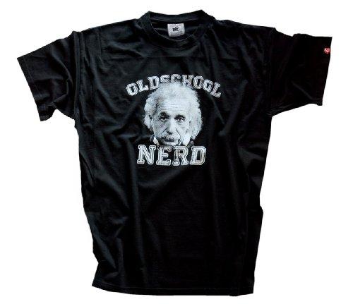 'Shirtzshop-Maglietta Oldschool Nerd Albert, Unisex, T Shirt Oldschool Nerd Albert, nero, XL