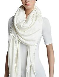 Prettystern - over size Pashmina foulard 100% laine 200 cm amende & soft XL discrets Leo pattern