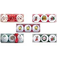 3er Set Weihnachts Golfbälle / Golf Weihnachtsgeschenk / Motivgolfbälle Weihnachten / Weihnachtsmann , Stiefel , Smiley® uvm