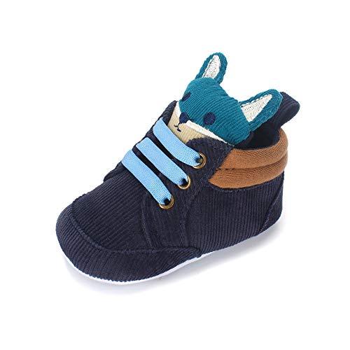 LACOFIA Zapatos Primeros Pasos niños Zapatillas de Cordones con Suela Suave Antideslizante para bebé...