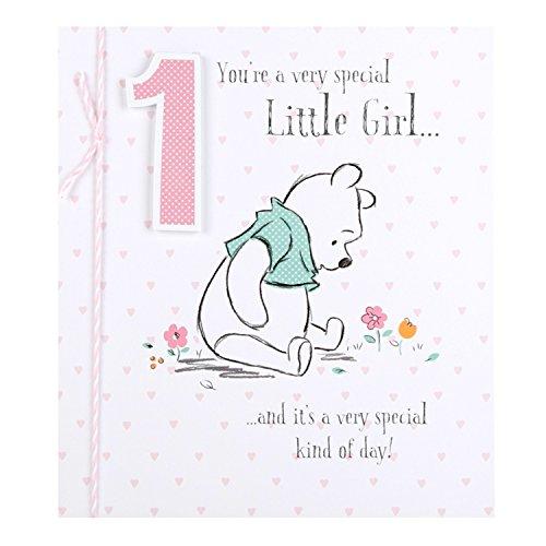 Hallmark Disney Baby, Winnie The Pooh, 1. Geburtstagskarte, 1, klein, S