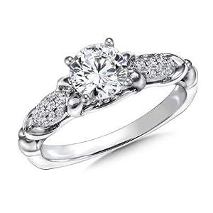 Damen-Ring Verlobungsring 14 Karat (750) Gold 14 Karat (750) Solitär Größe P L K J H G I N M