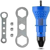 2.4-4.8mm de clavo remachado auto de la herramienta de remachado adaptador multifunción Kit de herramientas de perforación tuerca de inserción Inalámbrico pistola