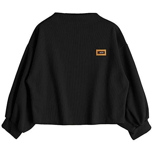 iHAZA Kapuzenpullover Sweatshirt Damen Langarmshirts Bluse Mit Kordelzug -