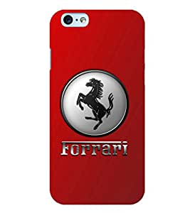 Printvisa Premium Back Cover Galloping Hose Logo Design For Apple iPhone 6