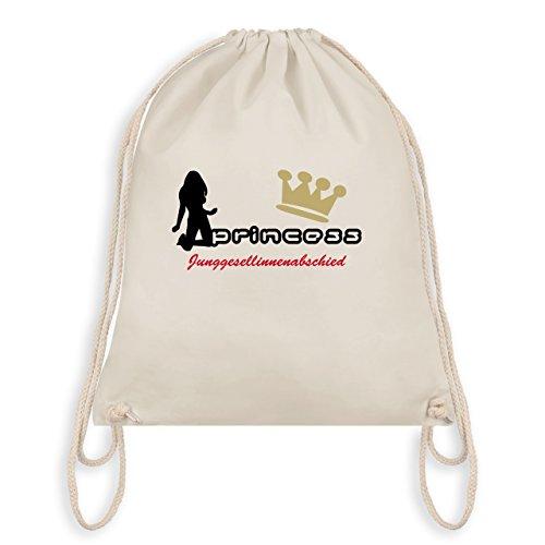 JGA Junggesellinnenabschied - Princess - Junggesellinnenabschied - Turnbeutel I Gym Bag Naturweiß