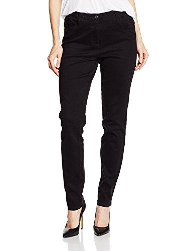Gina Laura Große Größen Damen Skinny Jeans Julia mit Gummizug Schwarz (Schwarz 10), 44 (Plus Jeans Elasthan Size)