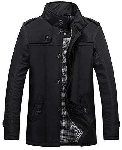 Snone cappotti uomo invernali parka casual giacche manica lunga cappotto outwear top la sezione classica e la sezione sottile slim fit mantengono caldo gli indumenti di cotone