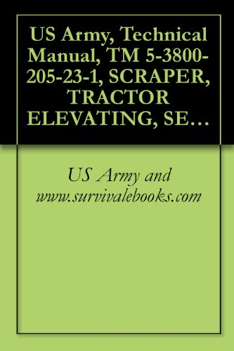 US Army, Technical Manual, TM 5-3800-205-23-1, SCRAPER, TRACTOR ELEVATING, SELF-PROPELLED, 11 CUBIC YARDS, SECTIONALIZED MODEL 613CS (NSN 3805-01-497-0697) ... AND COMMON COMPONENTS (English Edition)