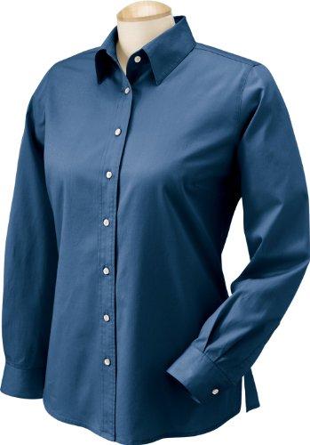 Chestnut Hill-Sees-Abito da camicia Oxford Ch500W Twill New Navy