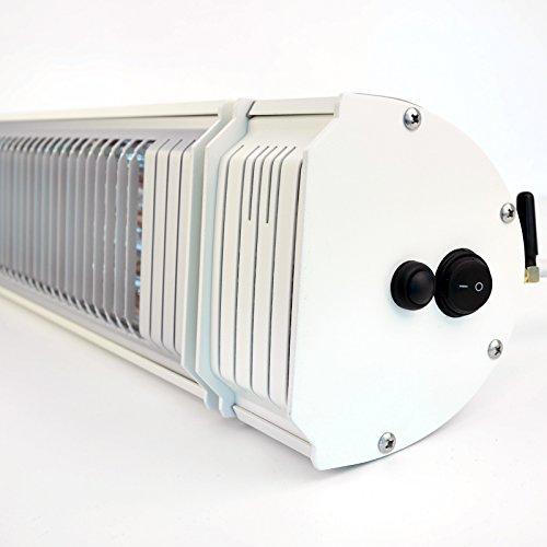 VASNER Infrarot-Heizstrahler Appino 20 weiß mit Abdeckhaube AirCape S, App-Steuerung, 2000 Watt, Fernbedienung, Terrassenstrahler-Infrarot - 4