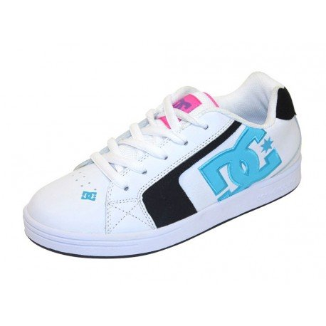 DC Shoes Youth Net Skater Sneaker 302362B weiß Kinder Damen Schuhe, Schuhgröße:EUR 36 (Schuhe Dc Youth)