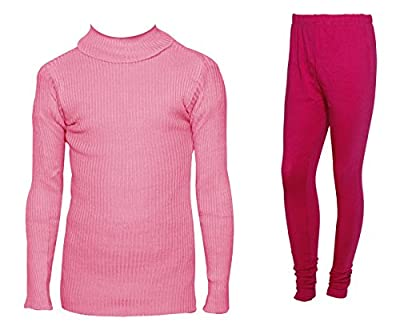 IndiWeaves Womens Combo Pack for Winter (Pack of 1 Warm Wollen Legging and 1 Warm Wollen High Neck T-shirt/Skivvy/Inner)_71518-10110-06-IW-P2