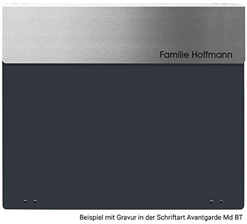 Frabox ARLON Design Briefkasten Anthrazitgrau / Edelstahl - 4