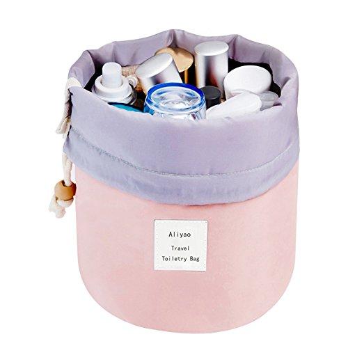 Borsa portaoggetti per cosmetici, Aliyao Impermeabile Sacchetto di stoccaggio cosmetico Viaggio Trucco Da Borsa Grande capacità Travel Kit Organizer Bagno Multifunzionale Secchio (Azzurro leggero) Rosa