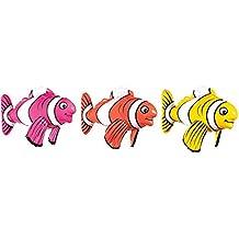 Amscan 39172843cm Aufblasbare gestreift Fisch Spielzeug
