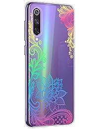 Oihxse Mandala Flores Encaje Patrón Serie Case Compatible con Huawei Honor V10 Lite/8X Funda TPU Silicona Suave Protector Ultra Slim Anti-Rasguño Transparente Carcasa (A4)