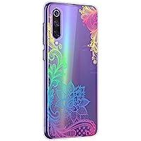 Oihxse Mandala Flores Encaje Patrón Serie Case Compatible con Samsung Galaxy C7 Pro Funda TPU Silicona Suave Protector Ultra Slim Anti-Rasguño Transparente Carcasa (A4)