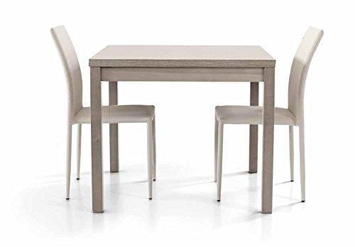 Legno&Design Tavolo Quadrato Rovere Grigio Apertura a Libro