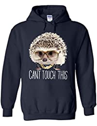 Hedgehog Can`t Touch This Novelty White Femme Homme Men Women Unisex Sweat à Capuche Hooded Sweatshirt Hoodie