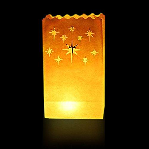 korativ Laterne -Leuchte Taschen- groß Star Design-perfekt zum Innen und draussen benutzen (Damast-ballons)