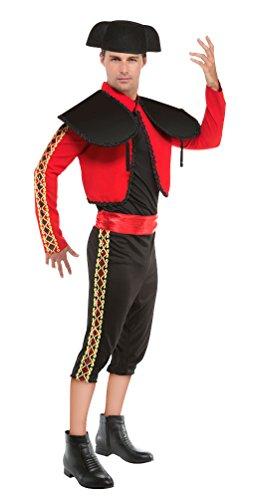 Karneval-Klamotten Spanier Kostüm Herren Torero Matador Kostüm MIT Hut Karneval Spanien Herren-Kostüm Größe 48/50