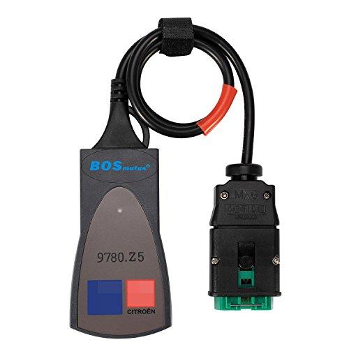 PP2000 OBD2 Scanner, PP2000 Lexia 3 V48 V25 Diagbox 7.83 Citroen Berline compatible. Outils Diagnostics pour système de moteur OBD-II, EOBD/OBD 2 Outils Moteur (noir)