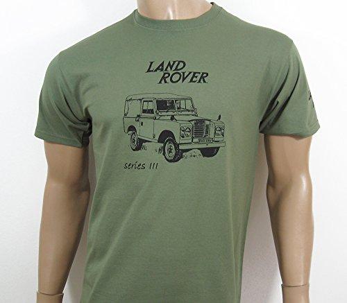 Land-retro-shirt (Land Rover Series 3T-Shirt in olivgrün–Größe XXL (47bis 124,5cm)–-- siehe bitte Unsere anderen Angebote für andere Größen dieser Shirt)