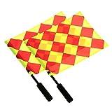 Provide The Best 2ST Fußball-Schiedsrichter Flag Sportspiel Fußball Linesman Flaggen Schiedsrichterausstattung