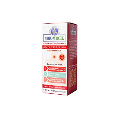 Siromucil 3 Azioni Integratore Alimentare, Gusto Fragola - 150 ml