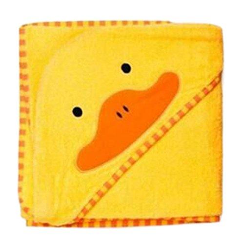 hibote fumetto dei bambini di accappatoio tovagliolo di bagno del Capo Hollded Cotton (Yellow Duck)