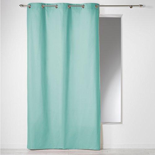 Douceur d 'Intérieur Panama cortina con ojales, algodón, verde menta, 140 x...