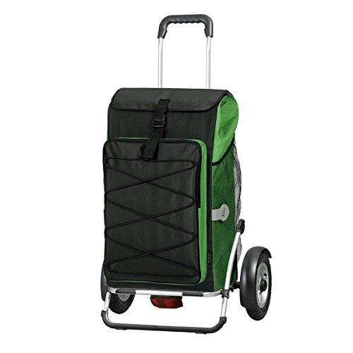 Carro de compra Royal Plus ruedas neumaticás Thor verde , volumen 69L, 3 años de garantía, Made in Germany
